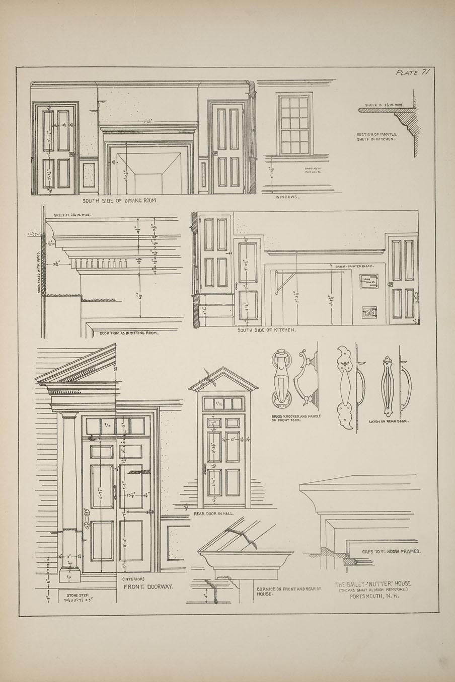 Decorative Arts Measured Drawings Of Some Colonial And Georgian