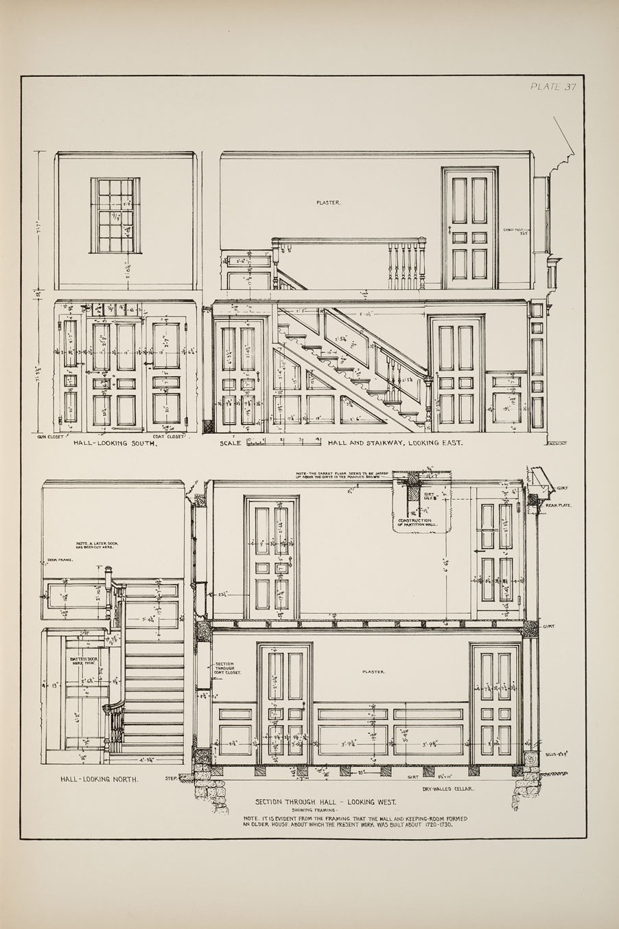 Decorative Arts: Measured drawings of some colonial and Georgian