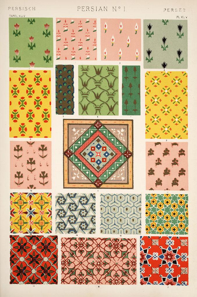 Decorative Arts The Grammar Of Ornament Persian Ornament