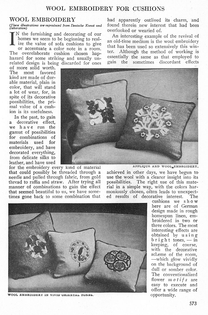 EMBROIDERY CUSHIONS