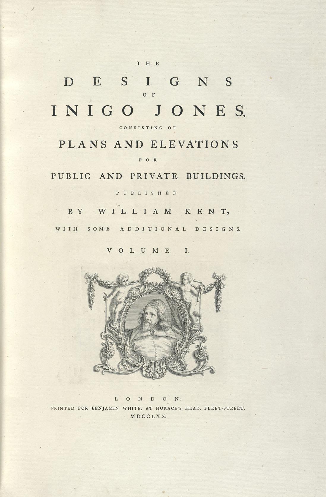 Book cover of The designs of Inigo Jones