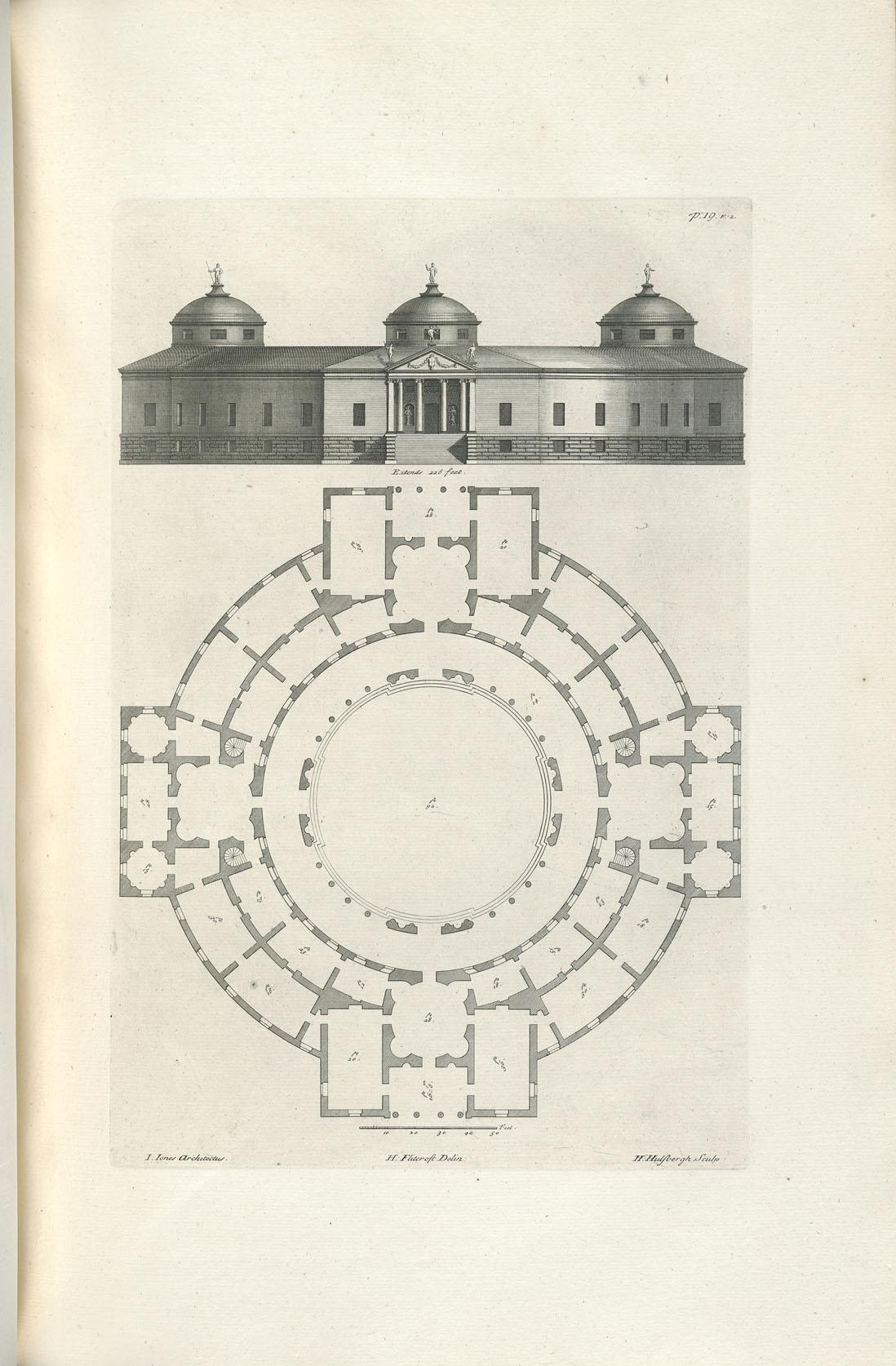 Elevation For Circular Plan : Decorative arts the designs of inigo jones consisting