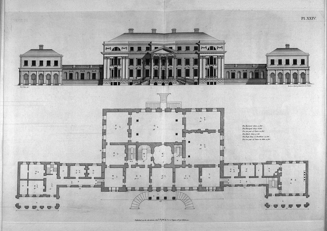 Decorative arts pain 39 s british palladio or the builder for Palladian style house plans