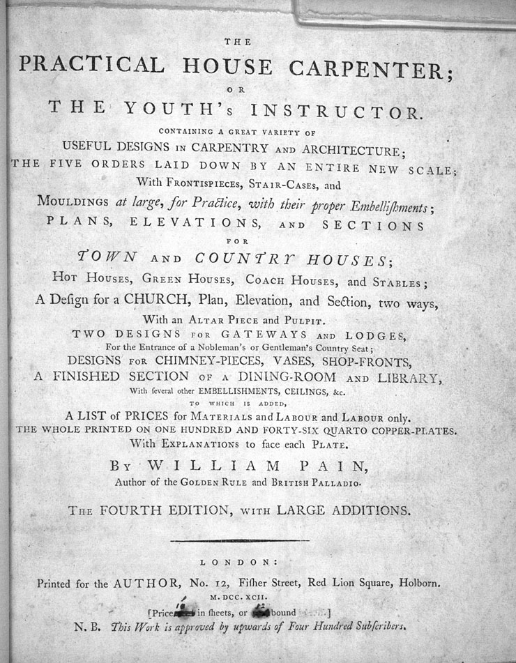 Decorative Arts: The practical house carpenter, or, Youth's