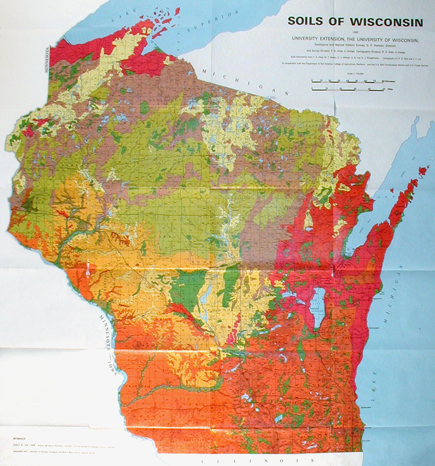 Ecology And Natural Resources Soils Of Wisconsin Soils Of - Map of wisc