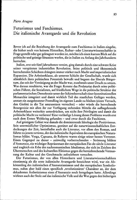 Giovanni Gentiles nichtidealtheoretischer Rechtfertigungsversuch des Faschismus