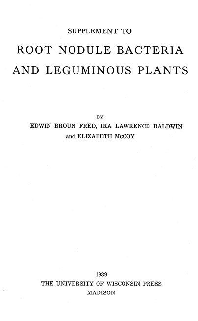 History of Science: Root nodule bacteria and leguminous plants: [Title
