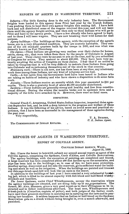 History: Annual report of the commissioner of Indian affairs