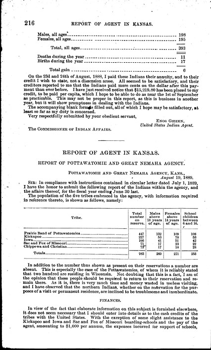 History: Annual report of the commissioner of Indian affairs, for