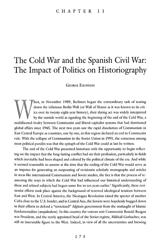 History Nation And Conflict In Modern Spain Essays In Honor Of  History Nation And Conflict In Modern Spain Essays In Honor Of Stanley G  Payne The Cold War And The Spanish Civil War The Impact Of Politics On