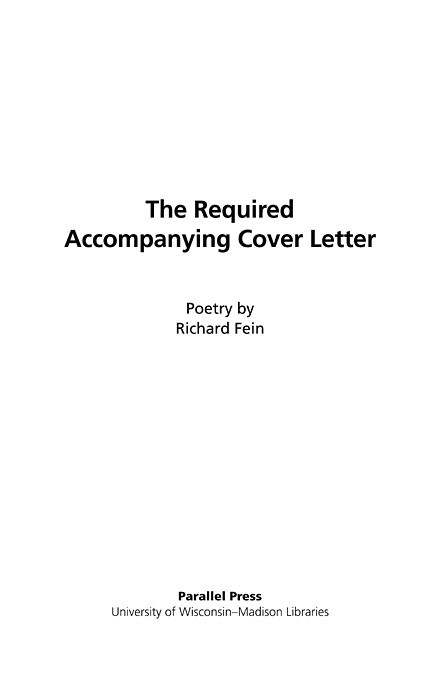 The Literature Collection: The required accompanying cover letter ...