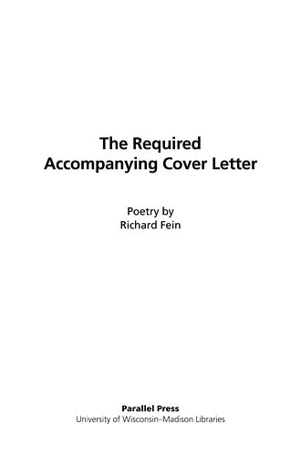 The Literature Collection: The Required Accompanying Cover Letter