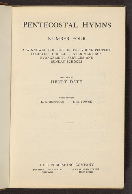 Mills Digital Collections: Pentecostal hymns : number four