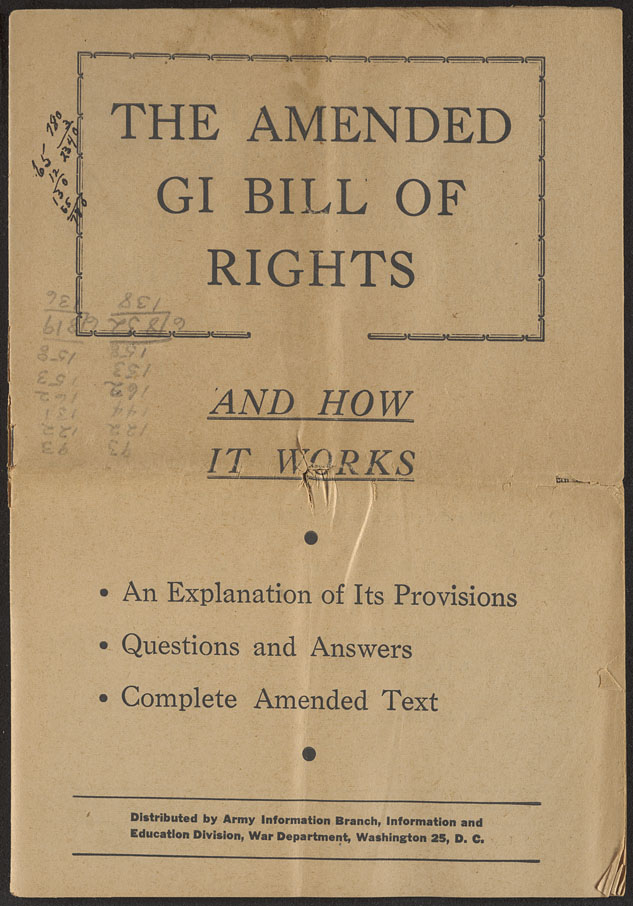 The State: The amended GI bill of rights and how it works: The ...