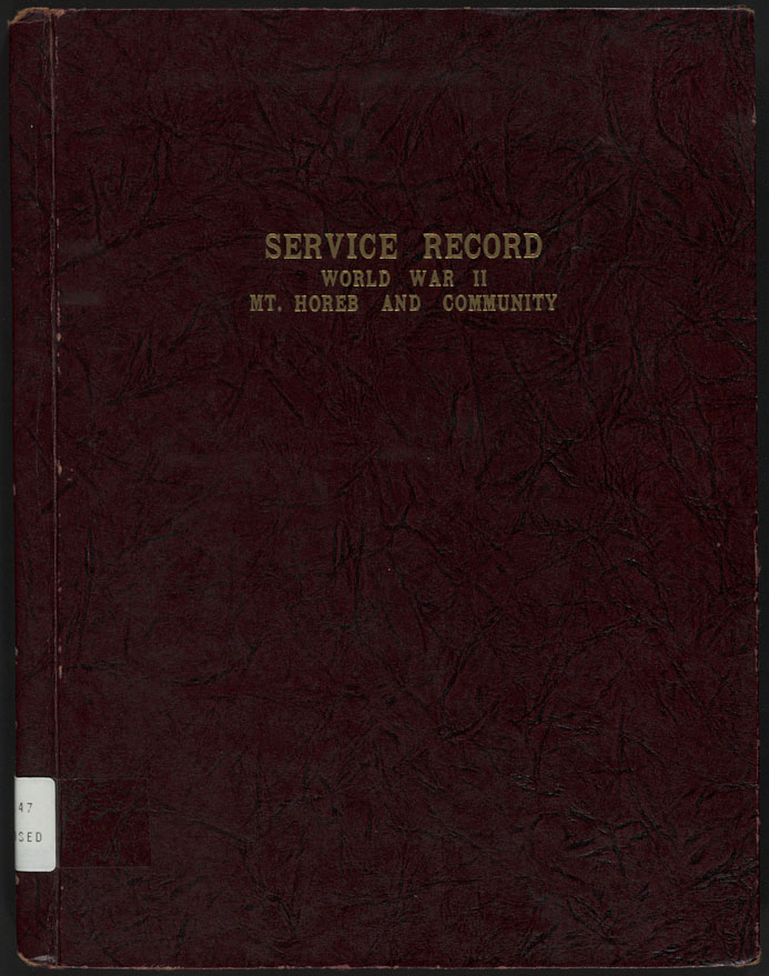the state service record book of men and women of mt horeb wis