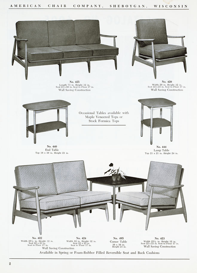 The state american chair company manufacturers catalog for American furniture manufacturing companies