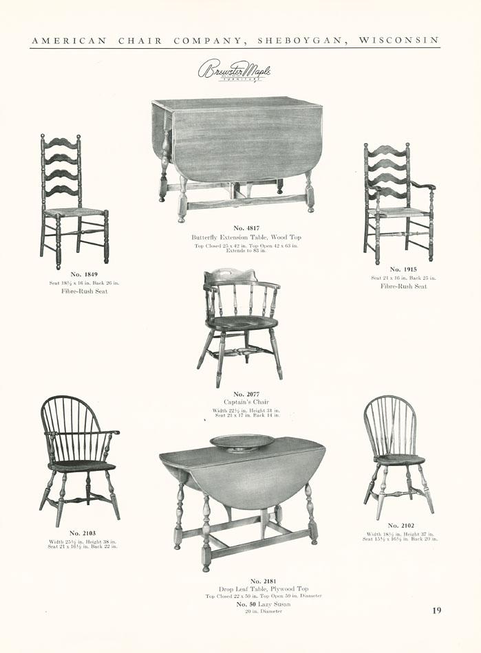 The State General Catalog No 5203 Brewster Maple Furniture
