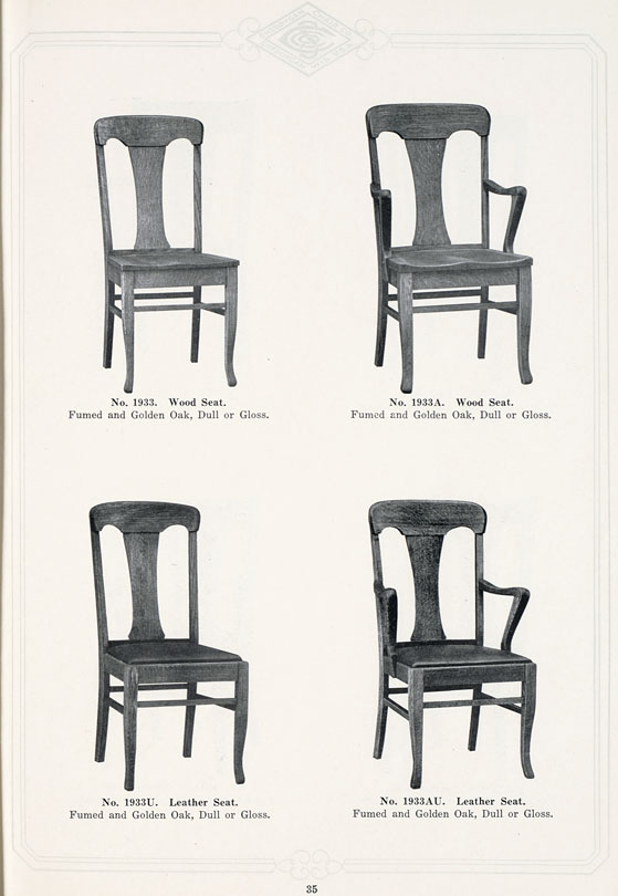 The State: Sheboygan Chair Company, 1927-1928: [Box Seat