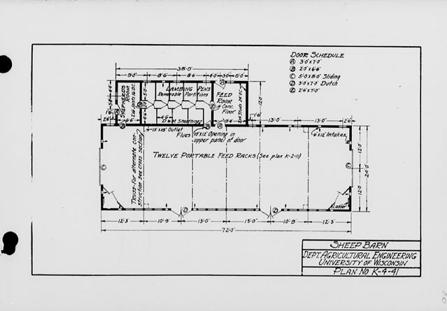 The State Index Of Plans October 1924 Sheep Barn Plan No K 4