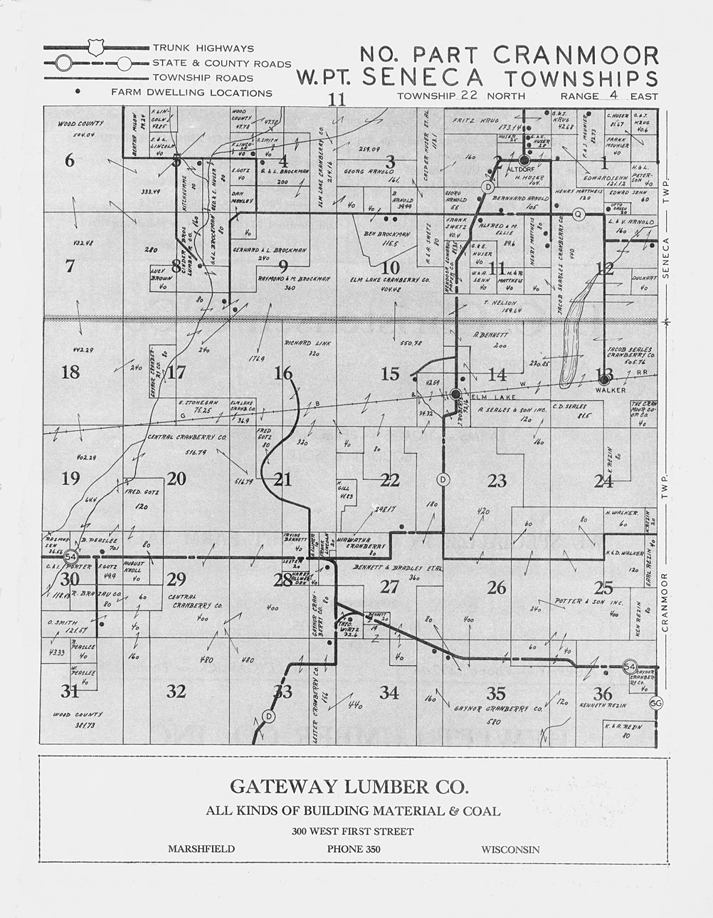 Cranmoor WI, Wood County, Wisconsin - As I drove past, I ... |Cranmoor Wood County Wisconsin Plat Map