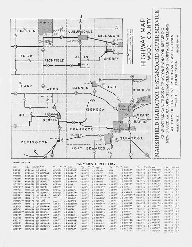 Wood County Map, Wisconsin |Cranmoor Wood County Wisconsin Plat Map