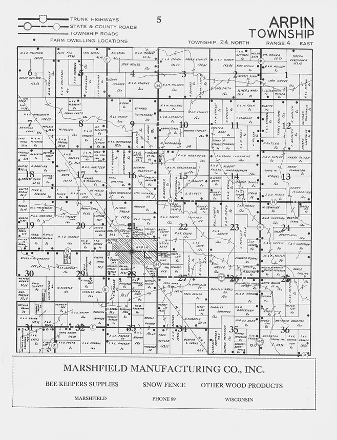 Land Records Management - Planning & Zoning - Wood County ... |Cranmoor Wood County Wisconsin Plat Map