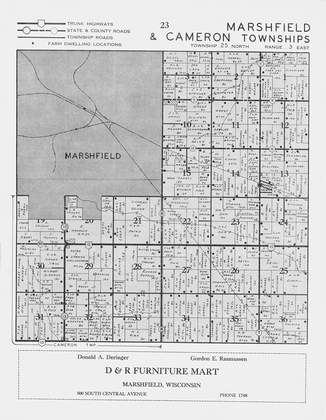 New Page 1 [www.usgennet.org] |Cranmoor Wood County Wisconsin Plat Map