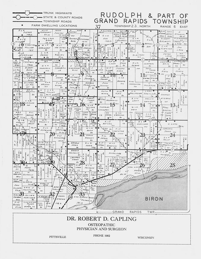 The State: Standard atlas of Wood County, Wisconsin ... |Cranmoor Wood County Wisconsin Plat Map