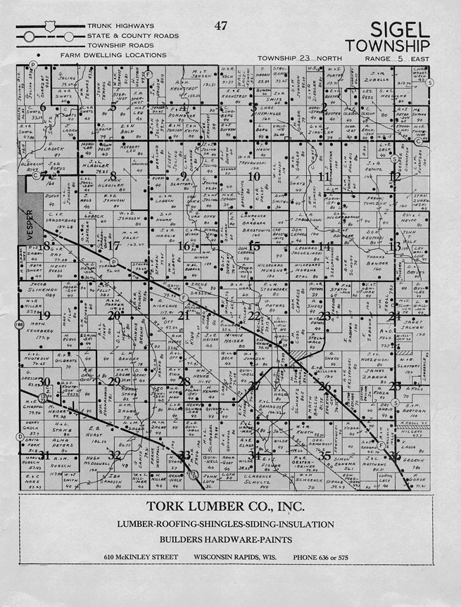Index of Maps and transcriptions of Pine Valley Township ... |Cranmoor Wood County Wisconsin Plat Map