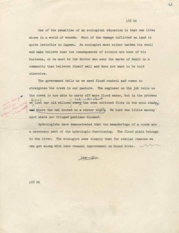 Aldo Leopold: Writings: Round River