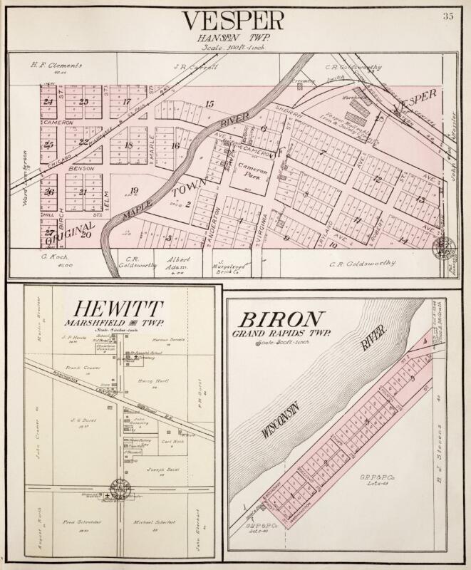 Wood County 1957 Wisconsin Historical Atlas |Cranmoor Wood County Wisconsin Plat Map