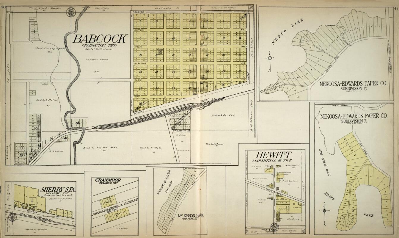 Index of Dewhurst, Clark Co., WI Maps |Cranmoor Wood County Wisconsin Plat Map
