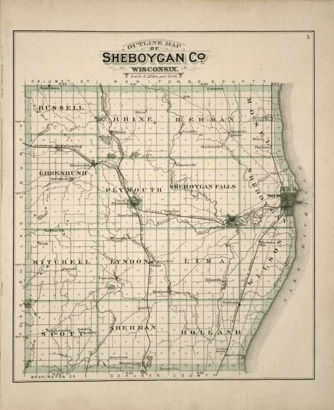 Wisconsin County Map Gis Sheboygan 7