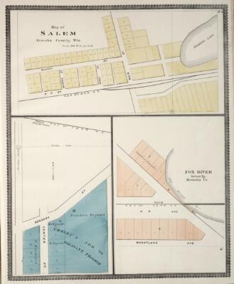 The State Illustrated Atlas Of Racine And Kenosha Counties