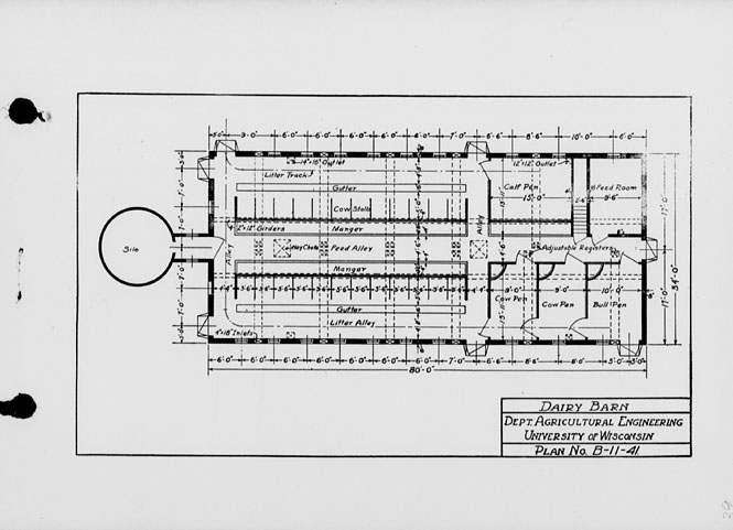 The State Index Of Plans October 1924 Dairy Barn Plan No B 11